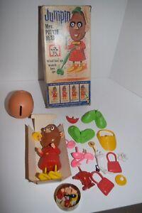Vintage 1966 Hassenfeld Bros. Jumping Mrs Potato Head by Hasbro w/Box & Extras