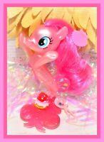 "❤️My Little Pony 3"" Brushable SEAPONY Sea Movie Pinkie Pie Glitter Treasure G4❤️"