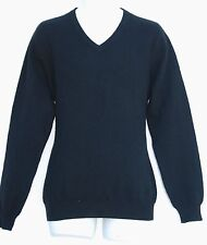 New CLUB ROOM Estate 2-Ply Cashmere Black Men's V-Neck Sweater S $195 NWT