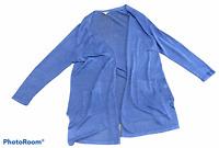 Woman's J.JILL Blue Linen Blend Cardigan Sweater Long Sleeve Plus Size 2X