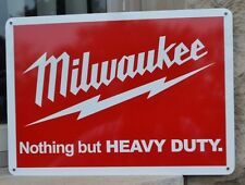 MILWAUKEE TOOLS SIGN SawZall PowerTool Cordless Drill Logo Workshop Advertising
