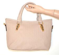 BORSA TORTORA donna eco pelle tracolla metallo oro bauletto sac bag bolsa E20