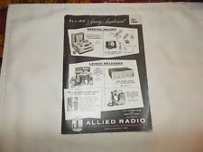 Vintage ALLIED RADIO CATALOG, DATE 1950'S? . USA.