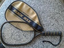 RARE! DUNLOP BLACK MAX Graphite Racquet Ball Racket with Dunlop Black Max Cover