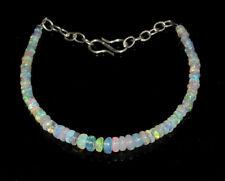 "7"" Natural Ethiopian 3-4 MM Bracelet Welo Fire Opal Rondelle Beads Bracelet."