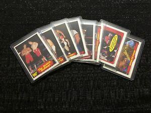 1985 O-Pee-Chee OPC WWF 8-Card Lot Hulk Hogan, British Bulldogs, Steamboat