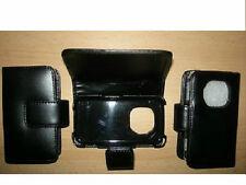 Tasche Flip Ledertasche Hülle Etui Handytasche Schutzhülle Nokia N96 Schwarz Neu
