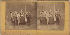 Scène de genre Jeux d'enfants La républiquePhoto Stereo Vintage Albumine c 1865