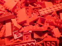 LEGO 100 Teile ROT Steine Platten Sondersteine, Sammlung Konvolut Bauteile kg