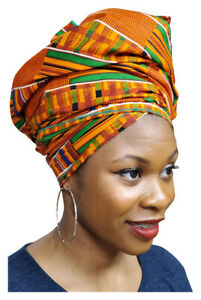 Red African Head Wrap with Gold Trim  DP4097H