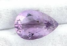 34.25 Carat Natural Pear Rose De France Amethyst Gemstone Gem Stone EBS966