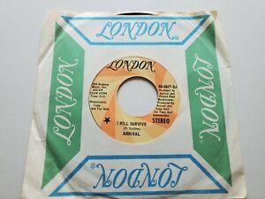 """Arrival - I Volonté Survive 1970 Mono Promo Jazz Pop Rock 7 """" NM"""