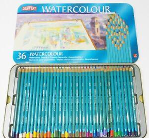 Derwent Watercolor 36 Watercolour Pencils - NEW in Tin!