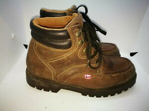 Goliath steel toe brown leather ankle boots size 6.5