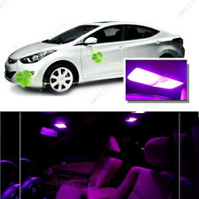For Hyundai Elantra 2011-2012 Pink LED Interior Kit + Pink License Light LED