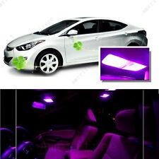 For Hyundai Elantra 2011-2012 Pink LED Interior Kit + Pink License Light LED
