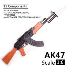 1/6 Scale AK47 Toy Gun Assembly Model Puzzles Building Brick Gun Soldier Weapon