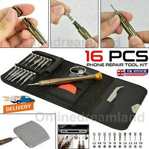 16 in 1 Mobile Phone Repair Tool Kit Spudger Pry Opening Tool Screwdriver Set UK