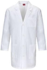 """Dickies EDS 83402 Unisex 37"""" Unisex Lab Coat Medical Uniforms Scrubs"""