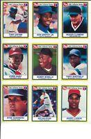 1991 Post Cereal Set - 30 Cards - Ken Griffey - Nolan Ryan - Cal Ripken & More