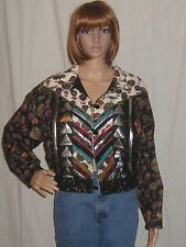 Vintage Crazy Quilt Jacket Coat Womens Hot Air Balloon Festival Arts & Crafts Lg