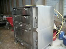 Garland    Gas Double Deck Pizza Oven with Stone & Legs,