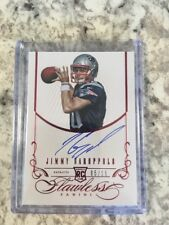 2014 Jimmy Garoppolo  Panini Flawless Ruby Red Auto RC #ed 5/15 49ers Pats