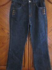 e64e797567d lei juniors dark wash jeans with gold -button pocket detail sz 7 EUC or NEW