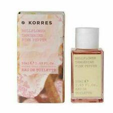 Korres Eau De Toilette Perfume Women Bellflower Tangerine Pink Pepper 50ml vegan