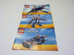 Lego Creator Thunder Wings 31008 Instruction Manual Book  ONLY