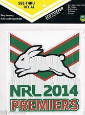 NRL South Sydney Rabbitohs Premiers Premiership See Thru Sticker / Decal / iTag
