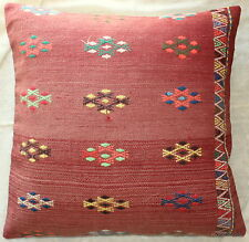 (70*70cm, 27.5inch) Turkish handwoven kilim cushion cover soft red brocade