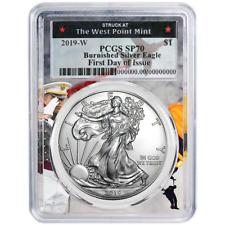 Set NGC MS70 Black ER Label Red White Bl 2019 W $1 American Silver Eagle 3 pc