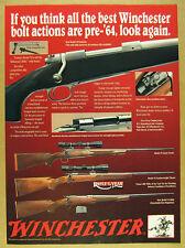 1992 Winchester Model 70 Rifle super grade featherweight classic & DBM print Ad