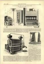 1888 gas combustibile liquido Riscaldato storte H drory Birch Liverpool iron pipe MACCHINA