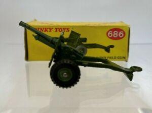 Dinky Toys 686 25-Pounder Field Gun, excellent condition, original box