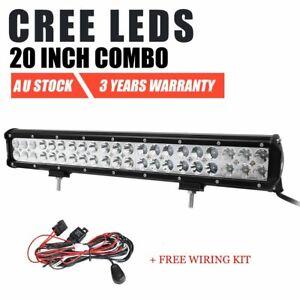 20 inch 294W CREE LED Work Light Bar Spot Flood Combo Beam Offroad 4WD SUV 4X4