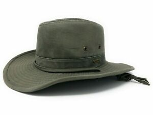 Stetson Men's Water Repellent Shapeable Safari Hat in Olive or Brown