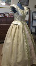 Renaissance Dress Tudor Anna Boleyn cosplay Costume Ball Noble royal  gown sz 14