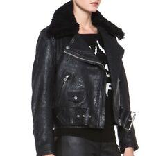 ACNE STUDIOS Mape Detachable Shearling Leather Jacket 38