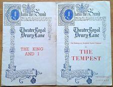 Selection of individual Theatre Royal Drury Lane programmes 1950s, programme