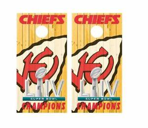 KC Kansas City Chiefs Cornhole Board Wraps Skins Decals Vinyl NFL HIGH QUALITY!