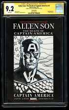 Fallen Son: The Death of Captain America #3 CGC 9.2 SS Signed Sketched Brereton!