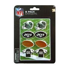 Erasers NFL Licensed 8-Pack New York Jets Football Blister Pack Back to School