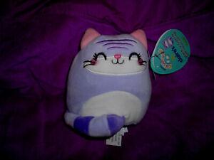 """Squishmallow 5"""" Jingles Purple Kitty Cat NEW"""
