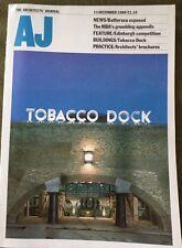 Architects Journal 13 Dec 89 Tobacco Dock Edinburgh Morrison Street, Looe School