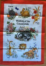 NEW Collectable Linen Tea Towel - Wildlife of the Countryside