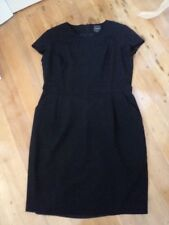 farage black dress LBD worn once briefly. 16  fine suiting wool  pockets