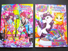 Lisa Frank 2 Giant Coloring/Activity Bks  (Rainbow Rocket & Play Kittens) New!