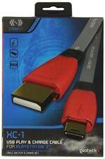 Gioteck XC-1 USB Giocare E Charge Cavo Per Playstation 3 SIGILLATO Nuovo di Zecca &